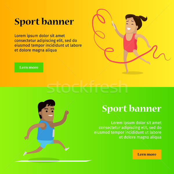 Artistic Gymnastics and Athletics Sport Template Stock photo © robuart