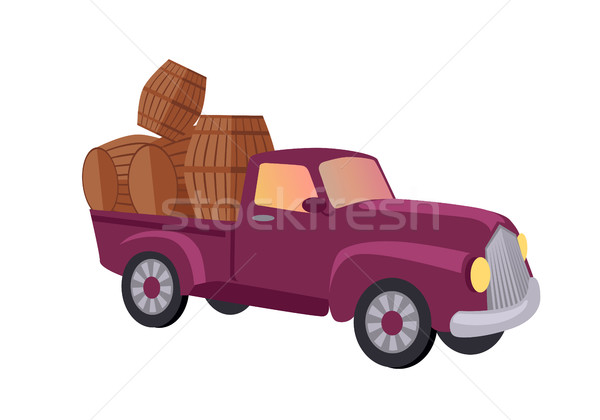Track Carries Baskets with Grape. Wine Production. Stock photo © robuart