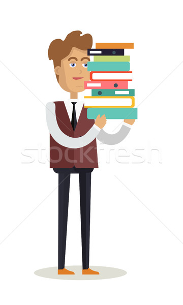 Irodai dolgozó karakter vektor rajz stílus terv Stock fotó © robuart