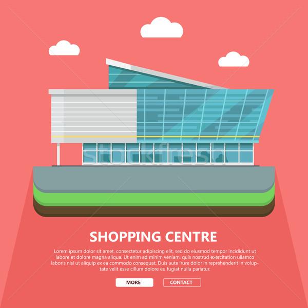 Bevásárlóközpont háló sablon terv oldal irodaépület Stock fotó © robuart