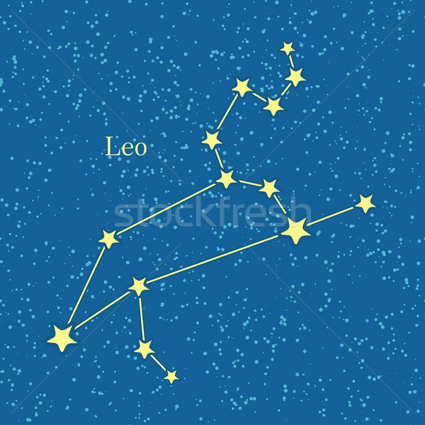 Leo Zodiac on Background of Cosmic Sky Stock photo © robuart