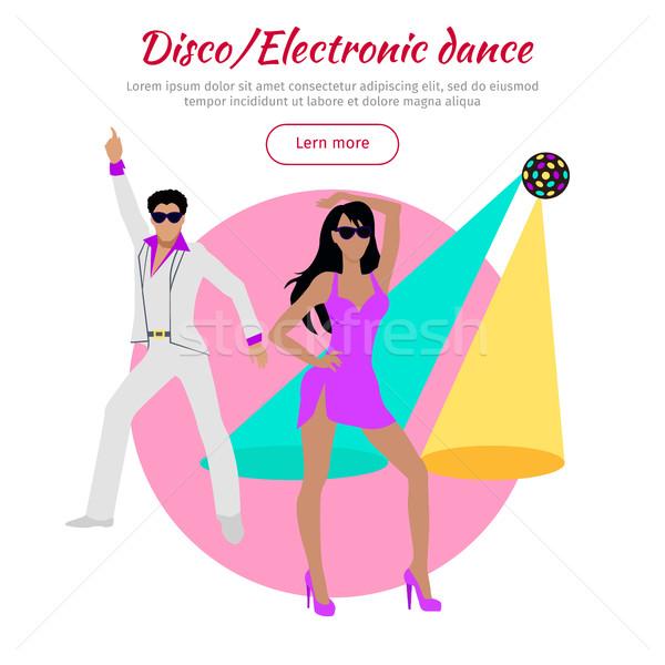 Disco elektronische dans banner ontwerp muziek Stockfoto © robuart