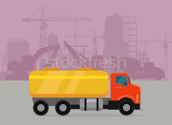Cargo Truck with Tank for Transporting Liquids Stock photo © robuart