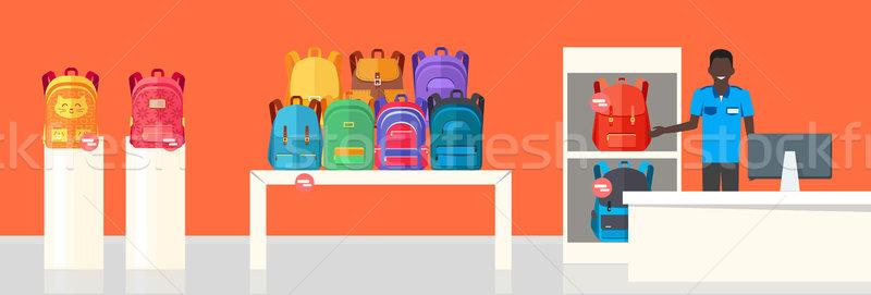学校 袋 ストア 2 提供すること バナー ストックフォト © robuart