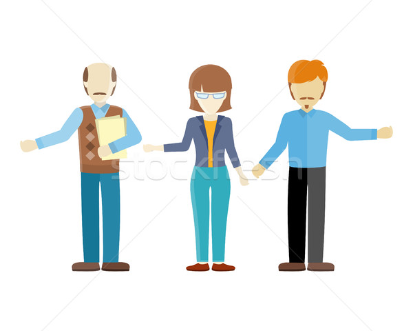 Set of Human Characters Vector in Flat Design Stock photo © robuart