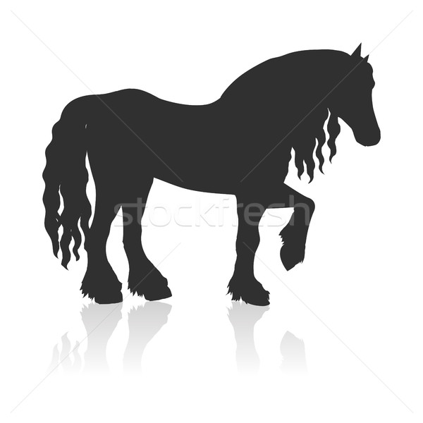 Draft Horse Vector Illustration in Flat Design Stock photo © robuart
