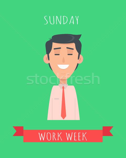 Lavoro settimana vettore design felice Foto d'archivio © robuart