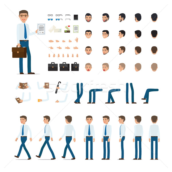 Persoană creare set simplu desen animat proiect Imagine de stoc © robuart
