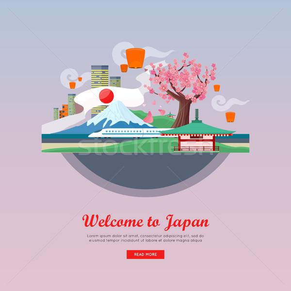 Stockfoto: Welkom · stijl · vector · web · banner · vakantie