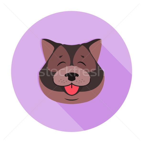 Kutyus fej masztiff közelkép vicces stílus Stock fotó © robuart