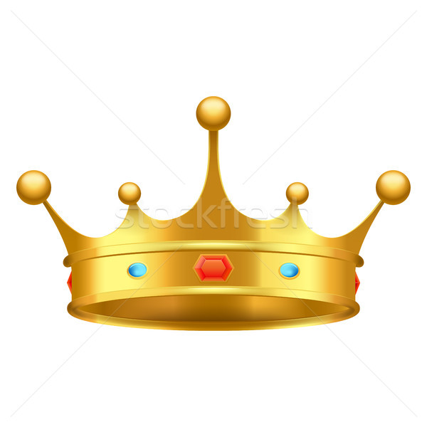 Golden Crown with Red and Blue Stones Close-up Stock photo © robuart