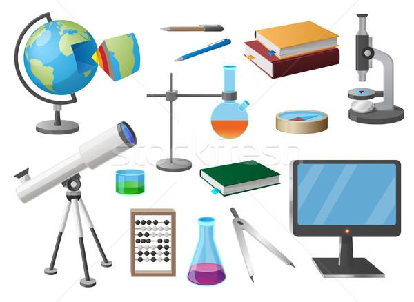 Set of Various School Objects Cartoon Illustration Stock photo © robuart