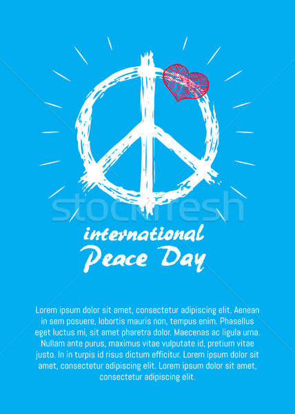 International Peace Day Poster Hippie Sign Icon Stock photo © robuart