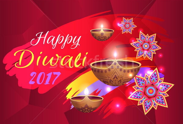 Stock photo: Happy Diwali 2017 Festival Vector Illustration