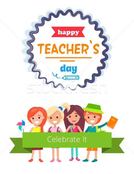 Happy Teacher s Day with Appeal for Celebration Stock photo © robuart