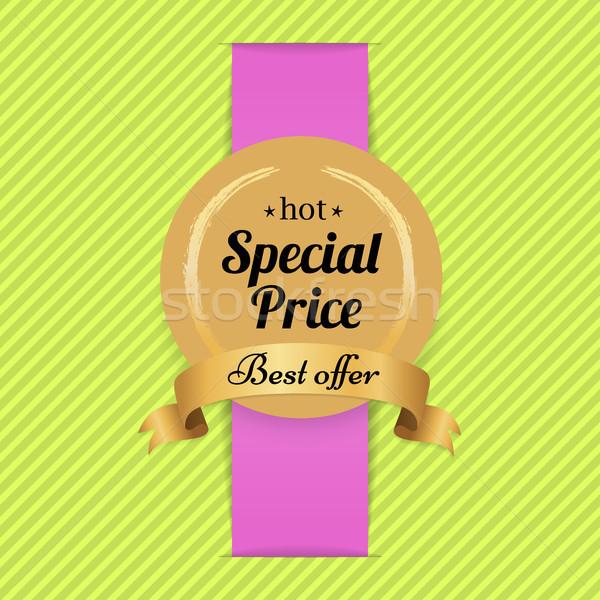 Specjalny cena najlepszy oferta hot złoty Zdjęcia stock © robuart