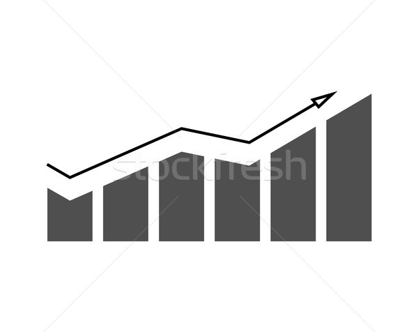 Growing Chart with Arrow on Vector Illustration Stock photo © robuart
