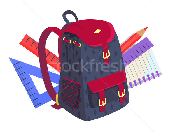 Side View on Fashionable Model of Kids Backpack Stock photo © robuart