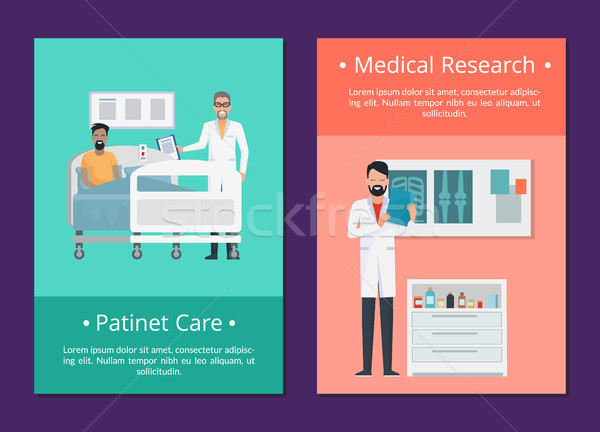 Patient Care Medical Research Vector Illustration Stock photo © robuart