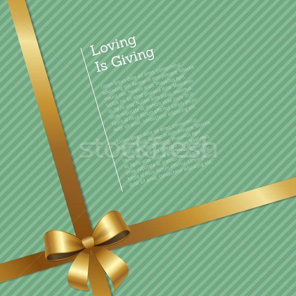 Liebevoll Zertifikat Grußkarte Design Geschenkgutschein Bänder Stock foto © robuart