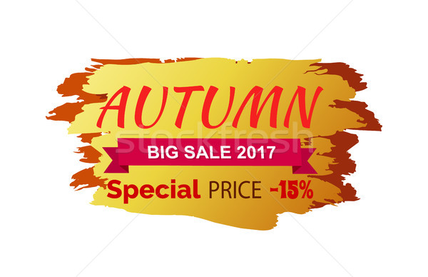 Autumn Special Big Sale 2017 Vector Illustration Stock photo © robuart