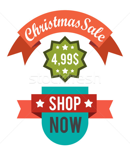 Christmas Sale Price Off New Year Decorated Tree Stock photo © robuart