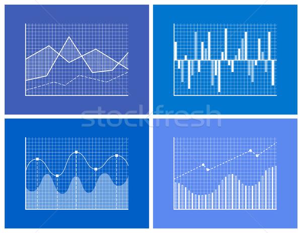 Monochromatyczny grafiki zestaw wysoki bary Zdjęcia stock © robuart