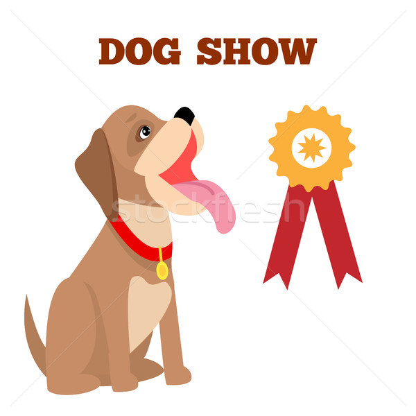 Dog Show Colorful Banner, Vector Illustration Stock photo © robuart