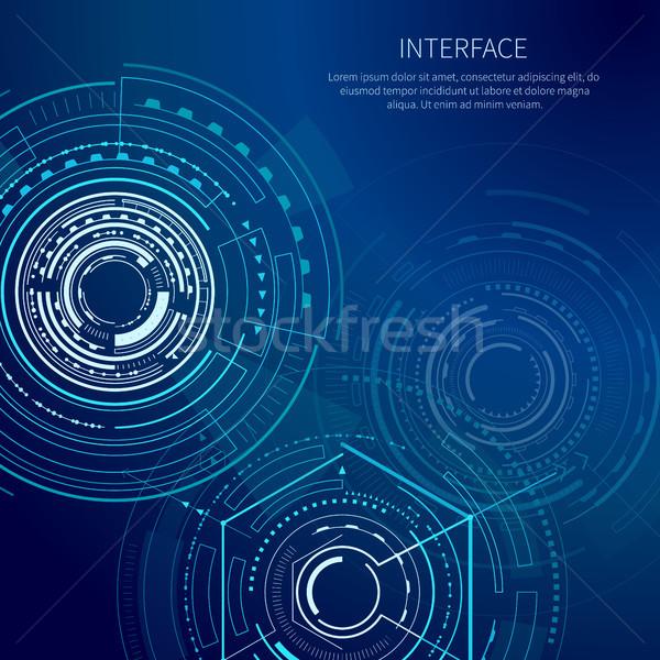 Melancólico interfaz geométrico formas brillante líneas Foto stock © robuart