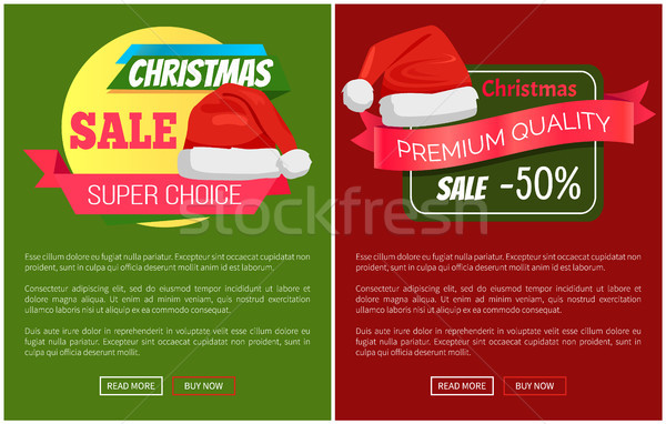Super Choice Christmas Sale Promo Santa Claus Hat Stock photo © robuart