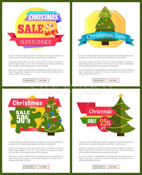 Stock fotó: Szett · karácsony · vásár · forró · ár · 50
