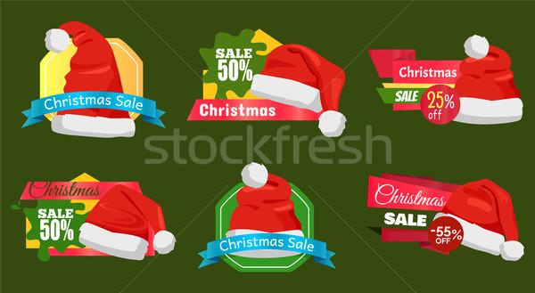 50 процент Рождества продажи поощрения Сток-фото © robuart
