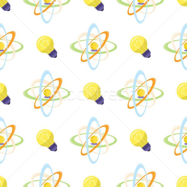 Ciencia atómico modelo eléctrica bombilla Foto stock © robuart