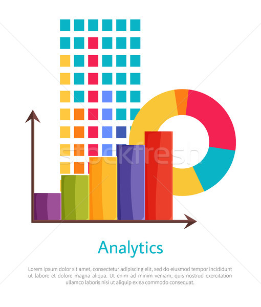Analytics graphiques affiche calendrier Photo stock © robuart