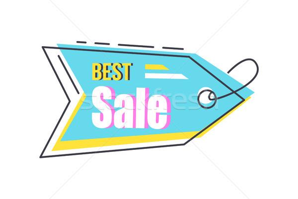 Najlepszy sprzedaży arrow wiszący naklejki Zdjęcia stock © robuart