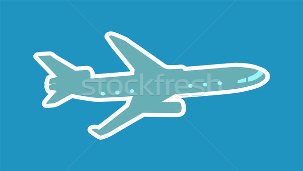 Pretty Layout of Aircraft Vector Illustration Stock photo © robuart