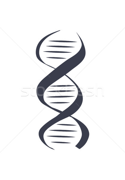DNA Logotype of Nucleotides Carrying Genetic Info Stock photo © robuart