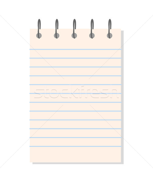 Paper with Holder Document Vector Illustration Stock photo © robuart