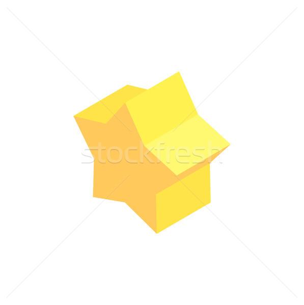 Pentagrammic Prism Sample, Colorful Illustration Stock photo © robuart
