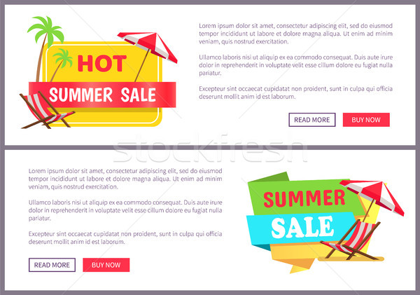Hot Summer Sale Internet Banners Templates Set Stock photo © robuart