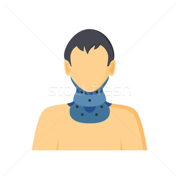 Nyak szerszám ortopéd férfi kék izolált Stock fotó © robuart