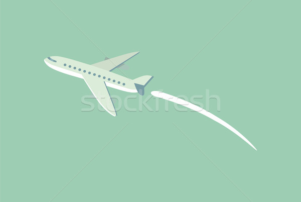 Aircraft Flying Leaving Trace Vector Illustration Stock photo © robuart