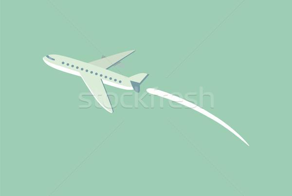航空機 飛行 トレース 空 飛行機 急速 ストックフォト © robuart