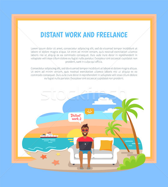 Distant Work Freelance Poster Freelancer Worker Stock photo © robuart