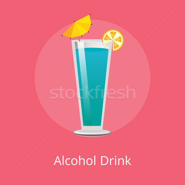 Cute Alcohol Drink With Small Decorative Umbrella Stock photo © robuart