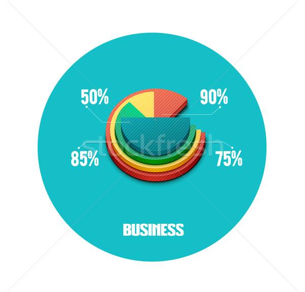 üzlet kördiagram iratok jelentések grafikon infografika Stock fotó © robuart