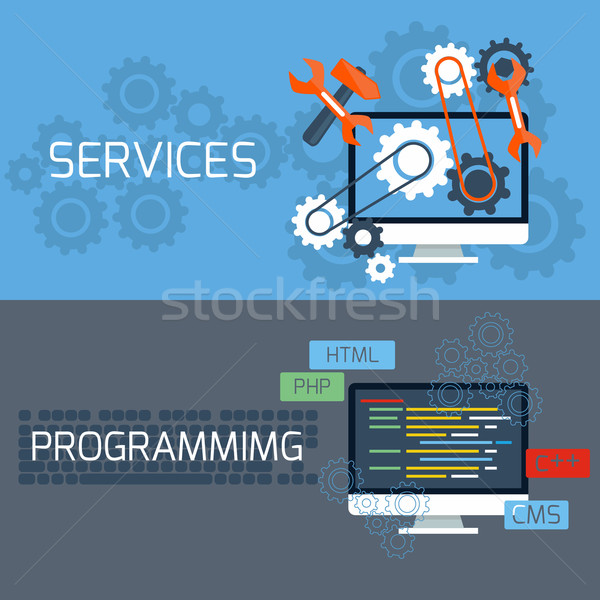 Concept for services and programming Stock photo © robuart