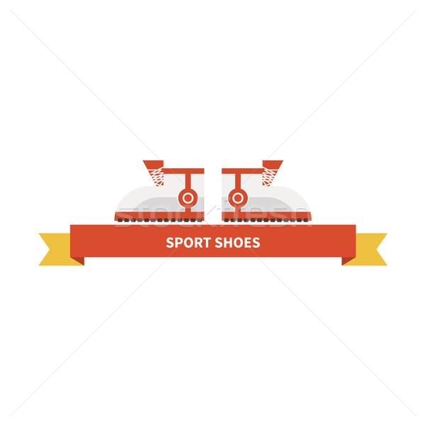 Futócipők sport cipők terv ikon fényes Stock fotó © robuart