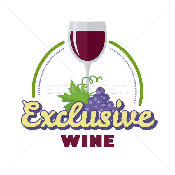 Exclusivo vinho logotipo ícone símbolo elite Foto stock © robuart