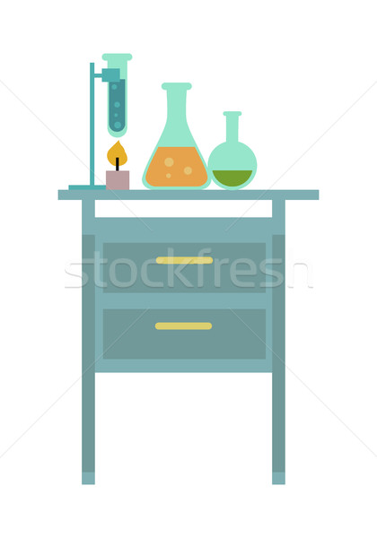 Table with Chemical Reagents Stock photo © robuart